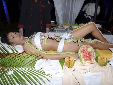 Girl Dressed as Sushi Sushi Girl Daniella Douglas